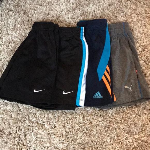 Nike puma adidas shorts